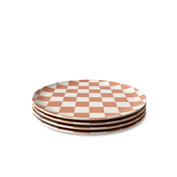 Coco Check Side Plate - 4 set