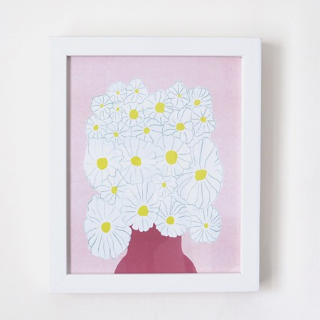 Daisies Risograph Print