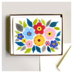 Folk Bouquet Card