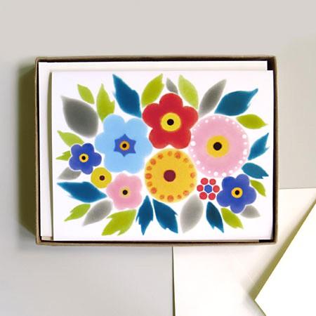 Folk Bouquet Card