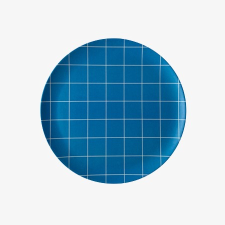 Blue Grid Side Plate - 4 set