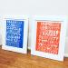 Letters A-L Risograph Print