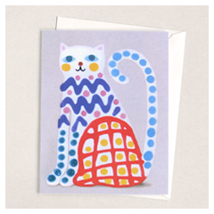 Crayon Cat Card
