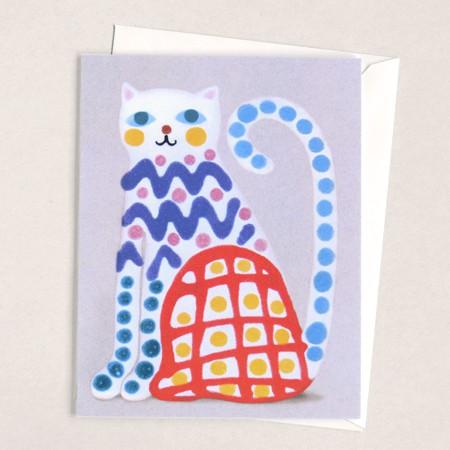 Crayon Cat Card