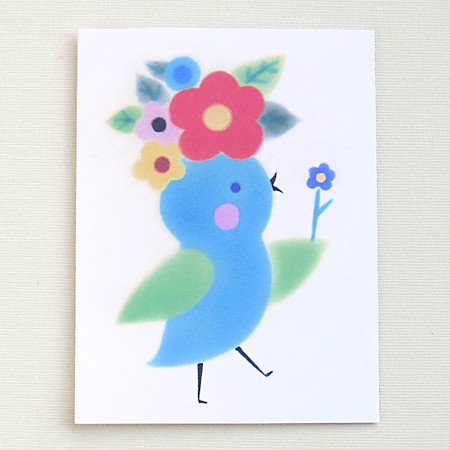 Flower Chick Card
