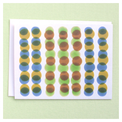 Green & Brown Dots Card
