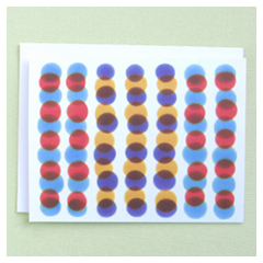 Red & Blue Dots Card