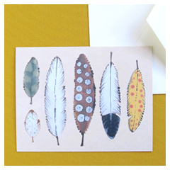 Natural Feathers Card