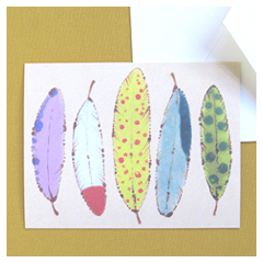 Tropical Feathers Card
