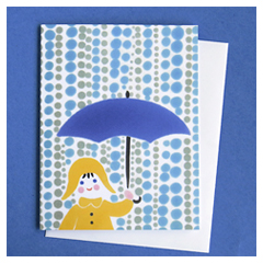 Blue Umbrella Card