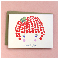 Girl Thank You Card