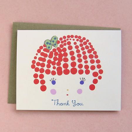 Girl Thank You Card