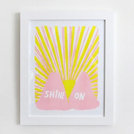 Shine On Risograph Print
