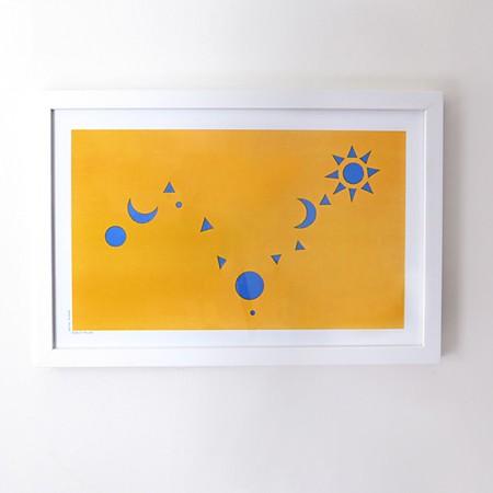 Starmap Risograph Print