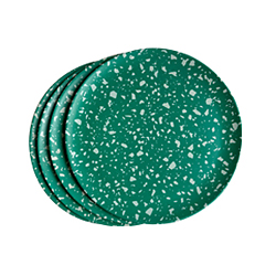 Terrazzo Green Side Plates   <p> Set of 4 </p>