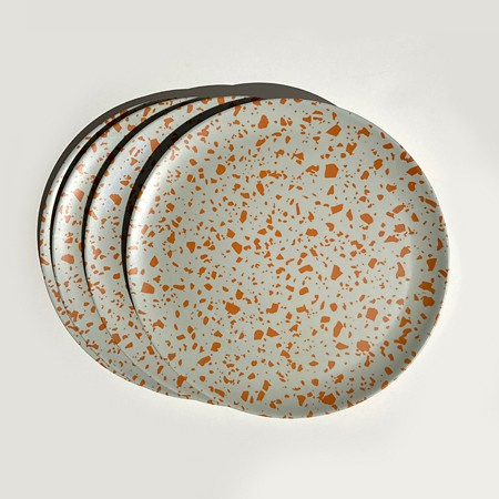 Terrazzo Mauve Side Plates   <p> Set of 4 </p>