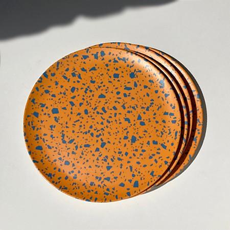 Terrazzo Orange Side Plates   <p> Set of 4 </p>
