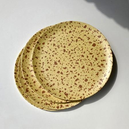 Terrazzo Yellow Side Plates   <p> Set of 4 </p>