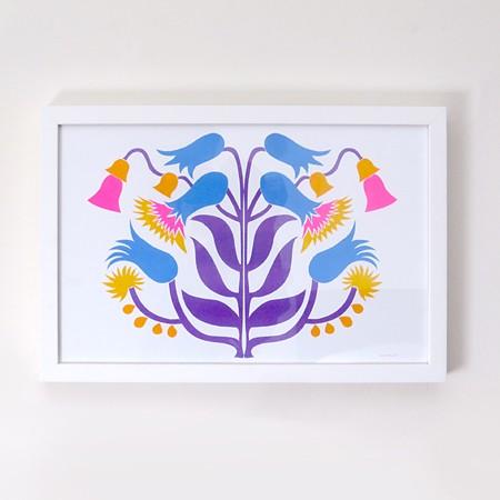 Thistle Risograph Print