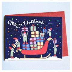 Busy Elves Card