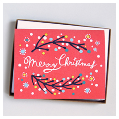 Merry Christmas Card - Red