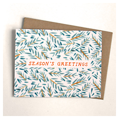 Pine Boughs Card
